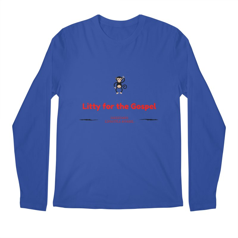 Litty For The Gospel 2 Men's Regular Longsleeve T-Shirt by ChristGang Apparel