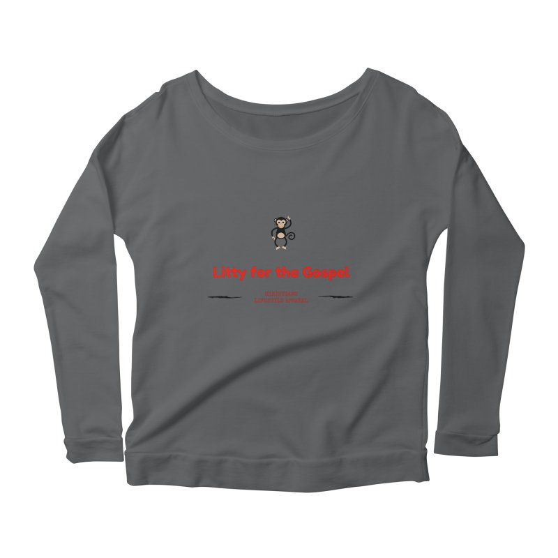 Litty For The Gospel 2 Women's Scoop Neck Longsleeve T-Shirt by ChristGang Apparel