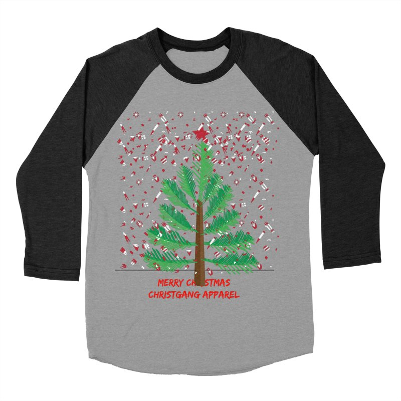 ChristGang Ugly Sweater Women's Baseball Triblend Longsleeve T-Shirt by ChristGang Apparel