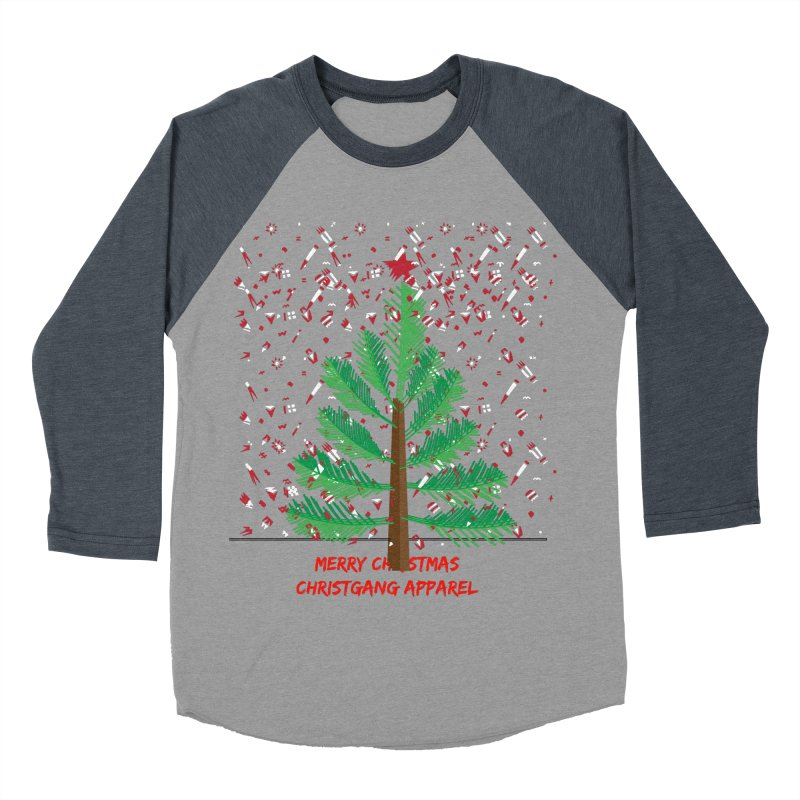 ChristGang Ugly Sweater Men's Baseball Triblend Longsleeve T-Shirt by ChristGang Apparel