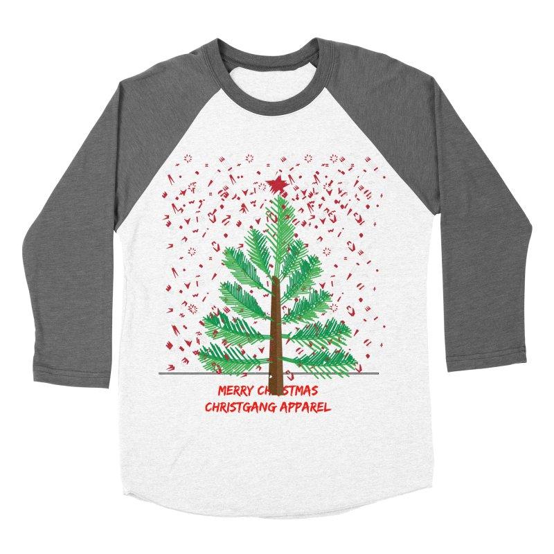 ChristGang Ugly Sweater Men's Baseball Triblend T-Shirt by ChristGang Apparel