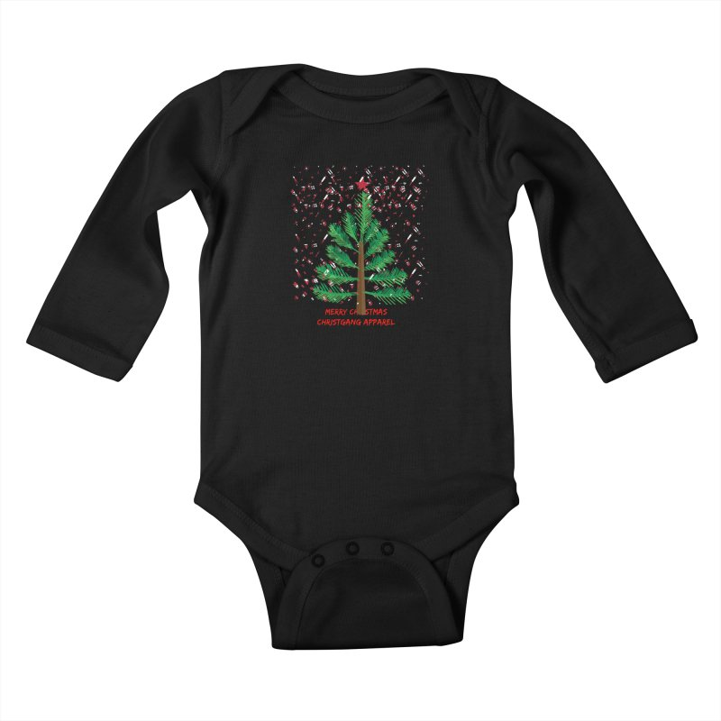 ChristGang Ugly Sweater Kids Baby Longsleeve Bodysuit by ChristGang Apparel