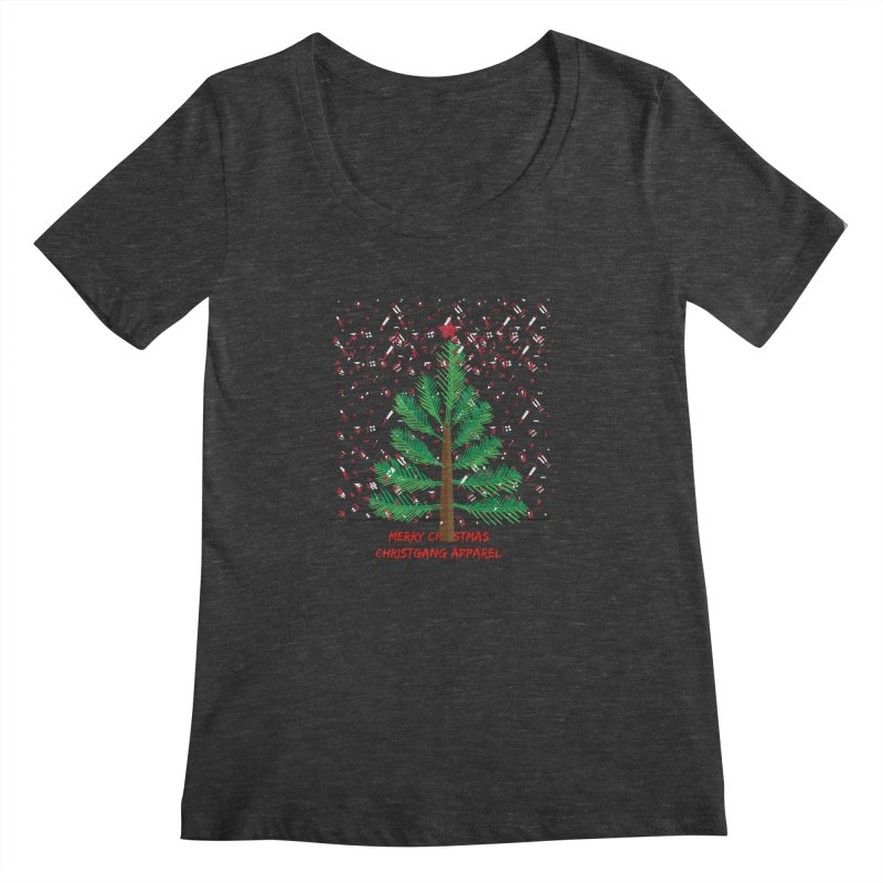 ChristGang Ugly Sweater Women's Scoopneck by ChristGang Apparel