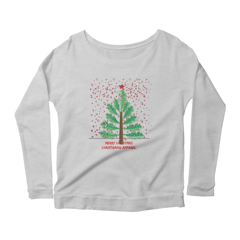 ChristGang Ugly Sweater Women's Scoop Neck Longsleeve T-Shirt by ChristGang Apparel