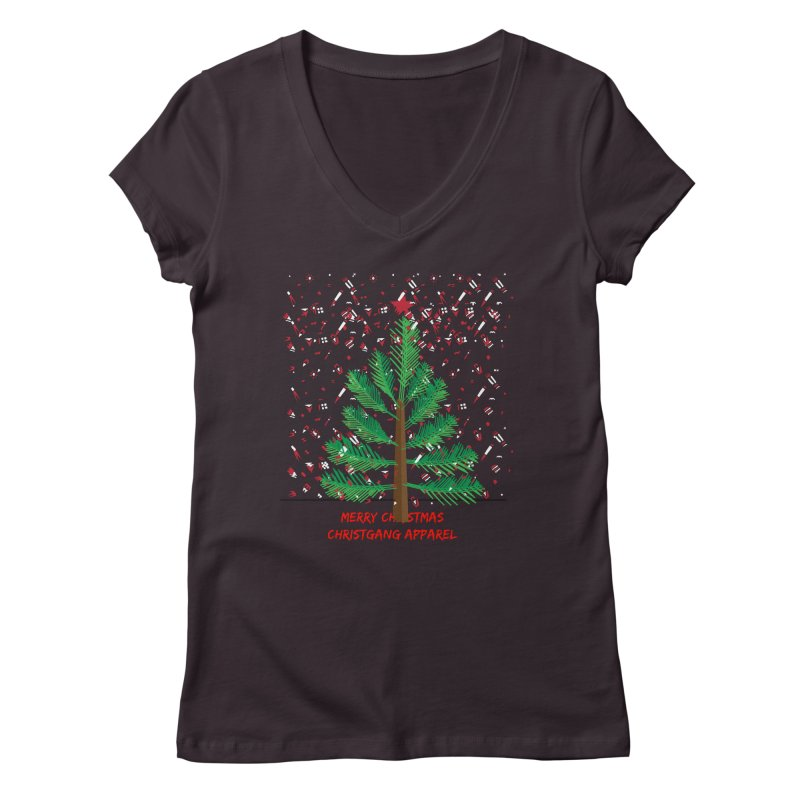 ChristGang Ugly Sweater Women's V-Neck by ChristGang Apparel