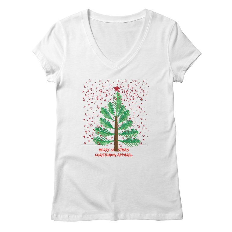 ChristGang Ugly Sweater Women's Regular V-Neck by ChristGang Apparel