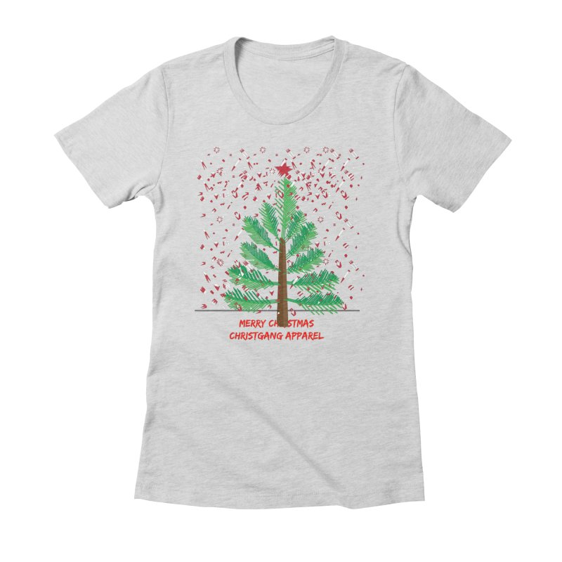 ChristGang Ugly Sweater Women's Fitted T-Shirt by ChristGang Apparel