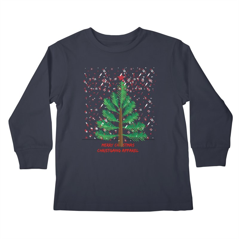 ChristGang Ugly Sweater Kids Longsleeve T-Shirt by ChristGang Apparel