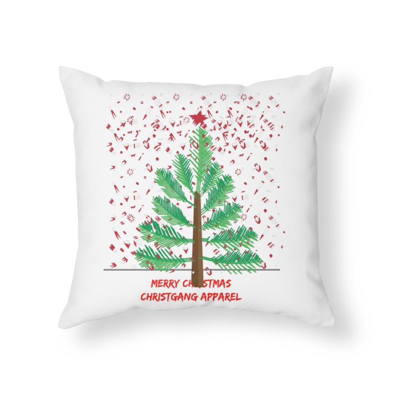 ChristGang Ugly Sweater Home Throw Pillow by ChristGang Apparel