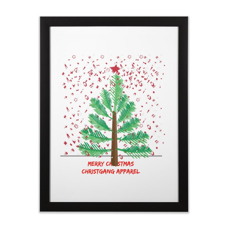 ChristGang Ugly Sweater Home Framed Fine Art Print by ChristGang Apparel