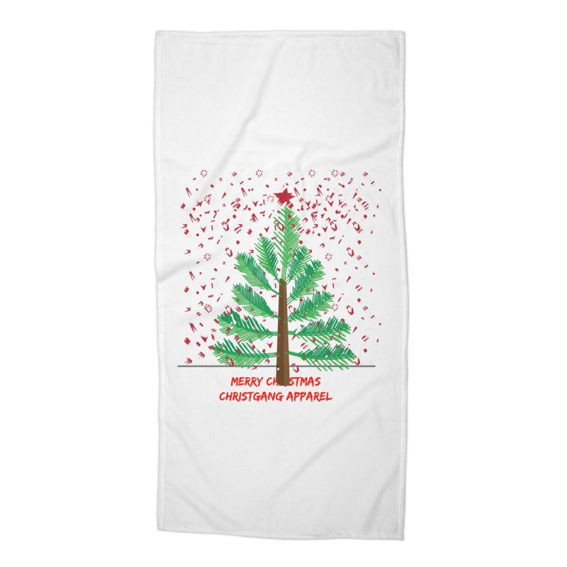 ChristGang Ugly Sweater Accessories Beach Towel by ChristGang Apparel
