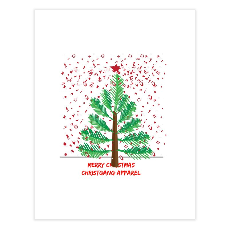ChristGang Ugly Sweater Home Fine Art Print by ChristGang Apparel