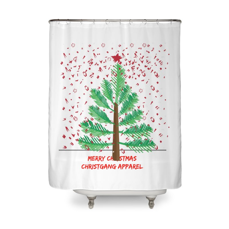 ChristGang Ugly Sweater Home Shower Curtain by ChristGang Apparel