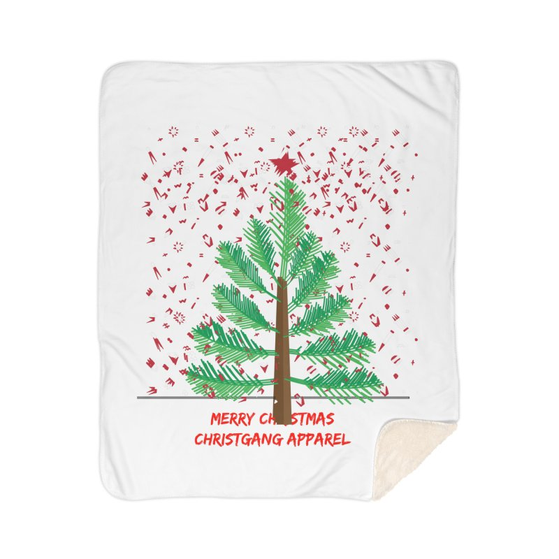 ChristGang Ugly Sweater Home Sherpa Blanket Blanket by ChristGang Apparel