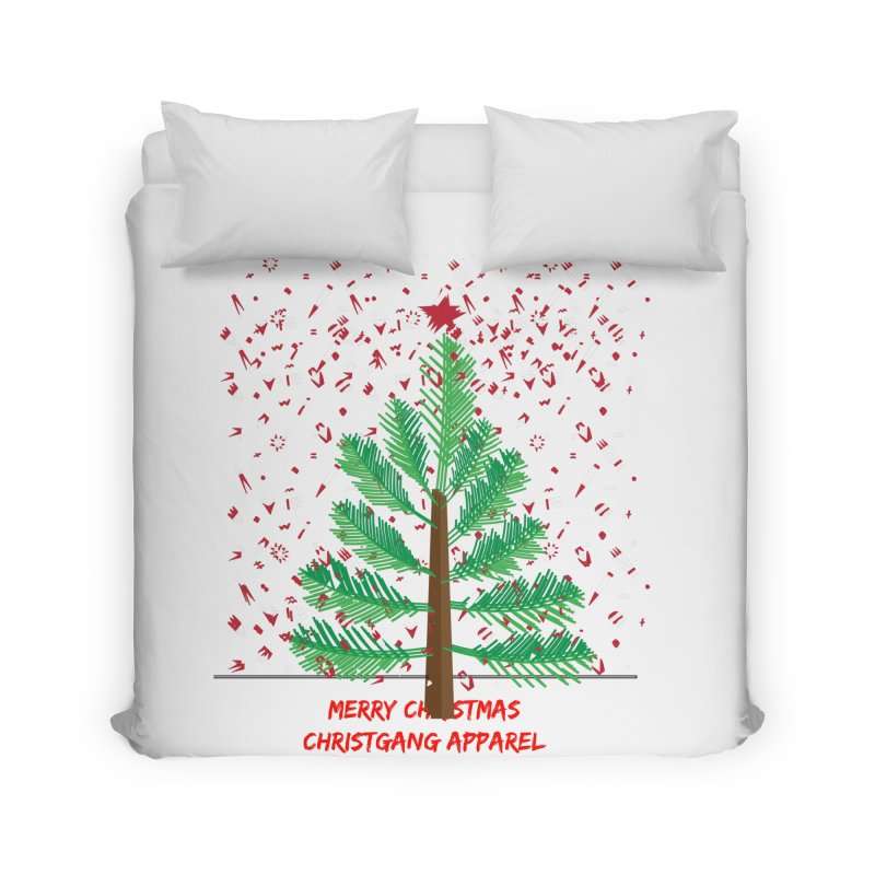 ChristGang Ugly Sweater Home Duvet by ChristGang Apparel