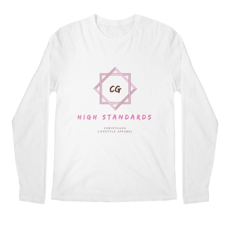 High Standards Men's Regular Longsleeve T-Shirt by ChristGang Apparel