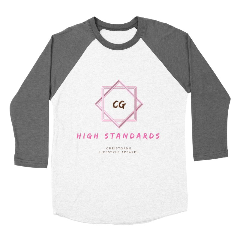 High Standards Men's Baseball Triblend Longsleeve T-Shirt by ChristGang Apparel