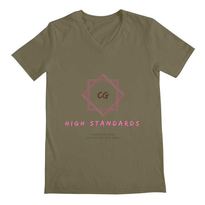 High Standards Men's Regular V-Neck by ChristGang Apparel