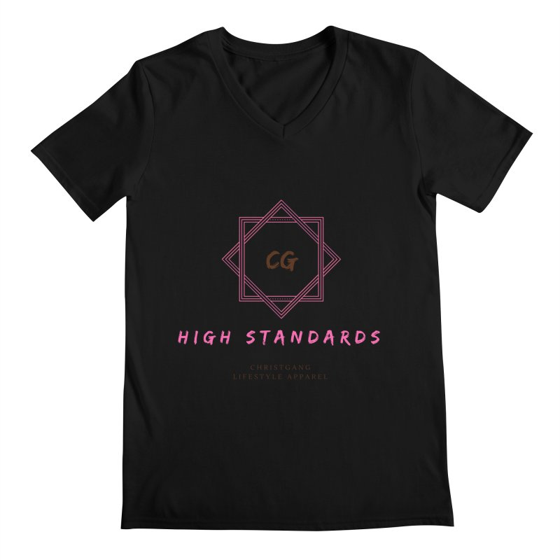 High Standards Men's Regular V-Neck by ChristGang Apparel
