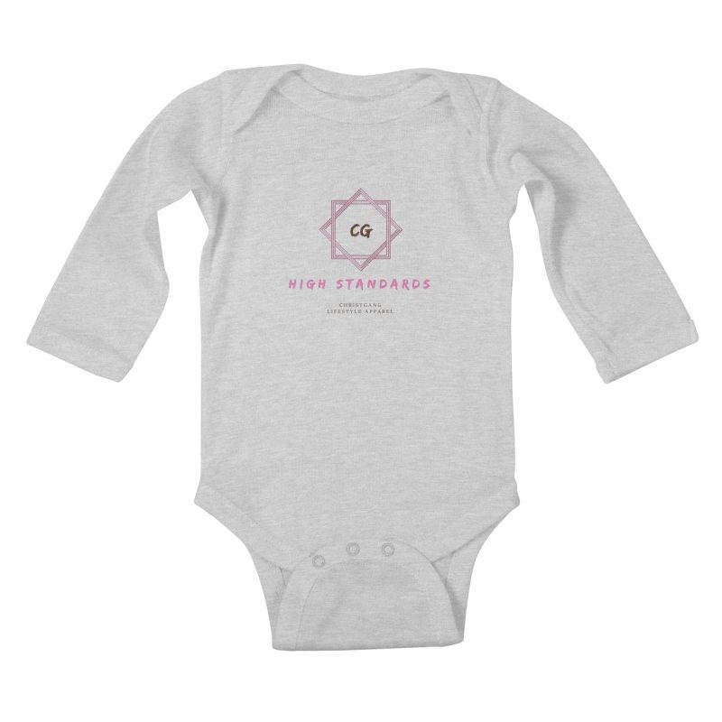 High Standards Kids Baby Longsleeve Bodysuit by ChristGang Apparel