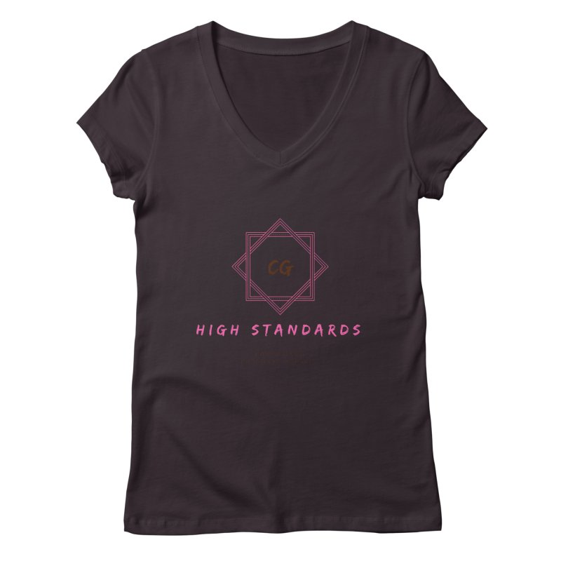 High Standards Women's Regular V-Neck by ChristGang Apparel