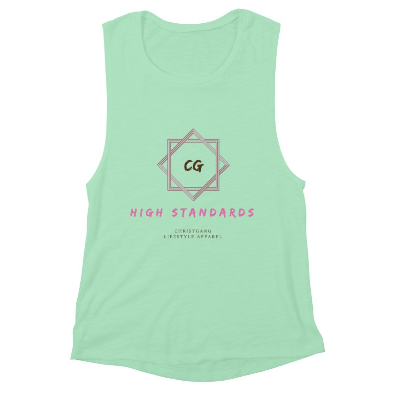 High Standards Women's Muscle Tank by ChristGang Apparel