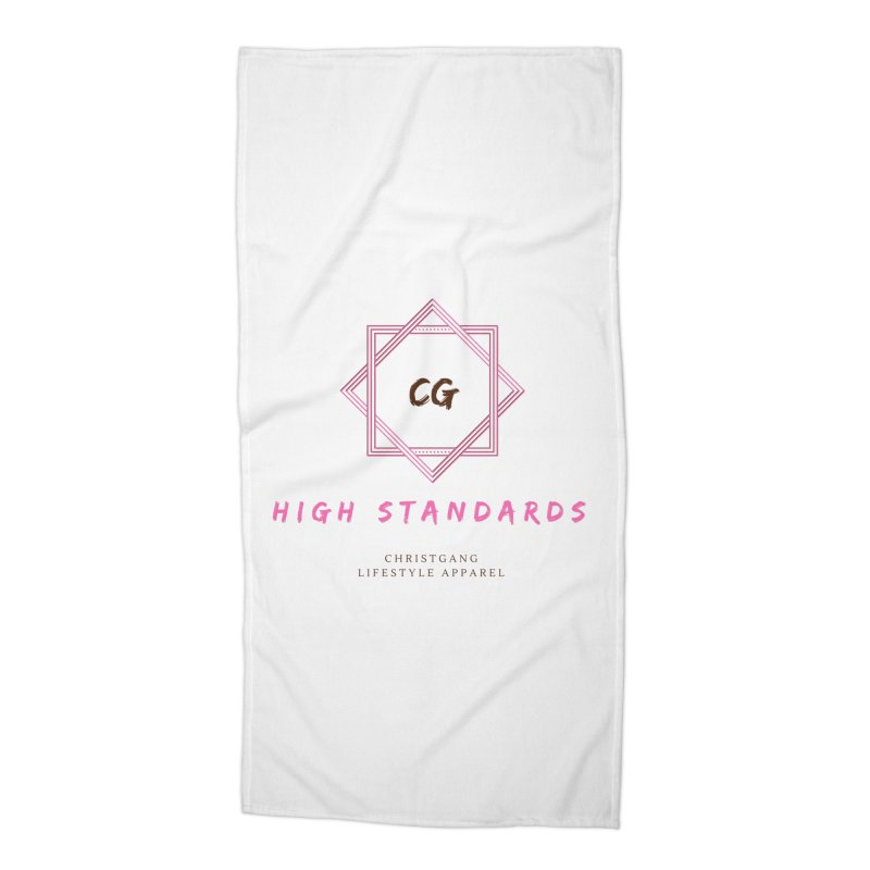 High Standards Accessories Beach Towel by ChristGang Apparel