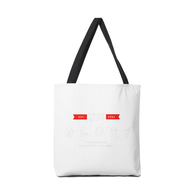The Glory White Accessories Tote Bag Bag by ChristGang Apparel