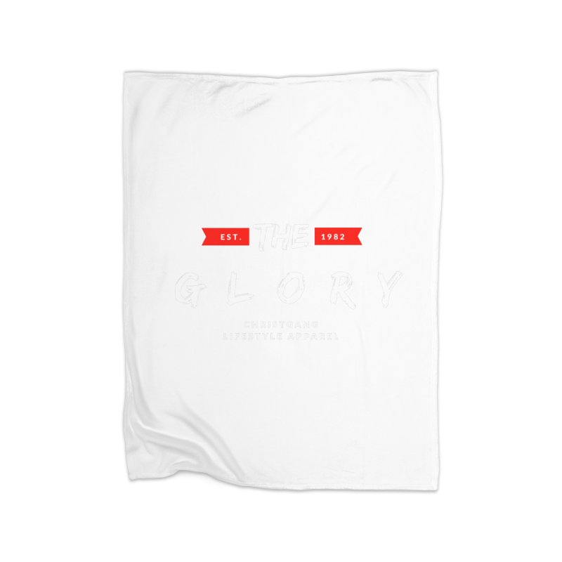 The Glory White Home Blanket by ChristGang Apparel