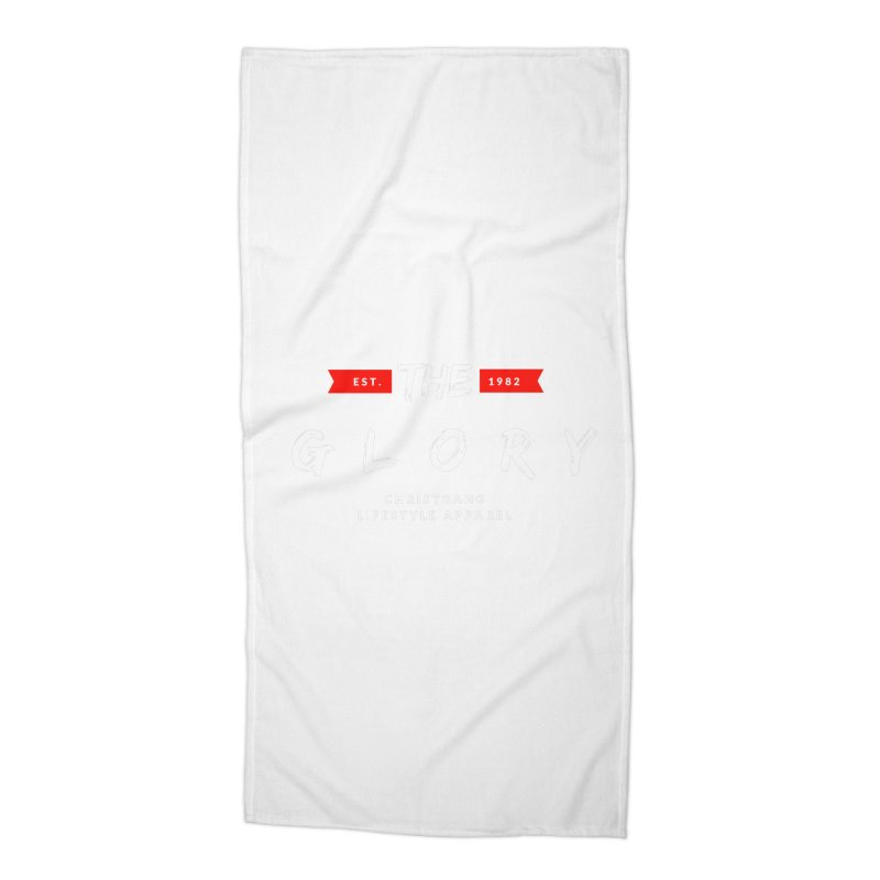 The Glory White Accessories Beach Towel by ChristGang Apparel