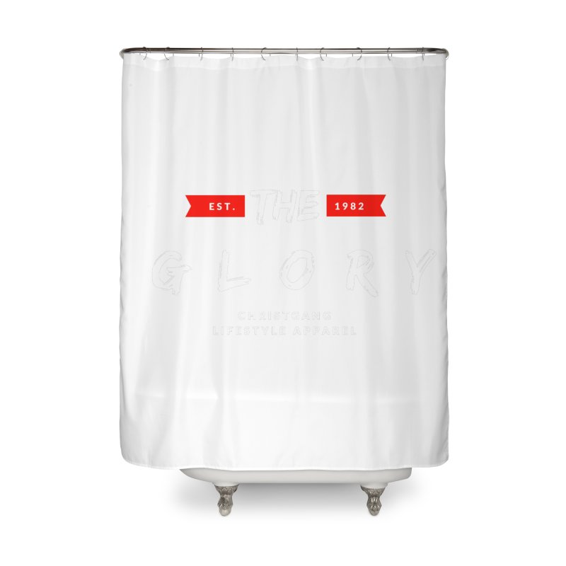 The Glory White Home Shower Curtain by ChristGang Apparel