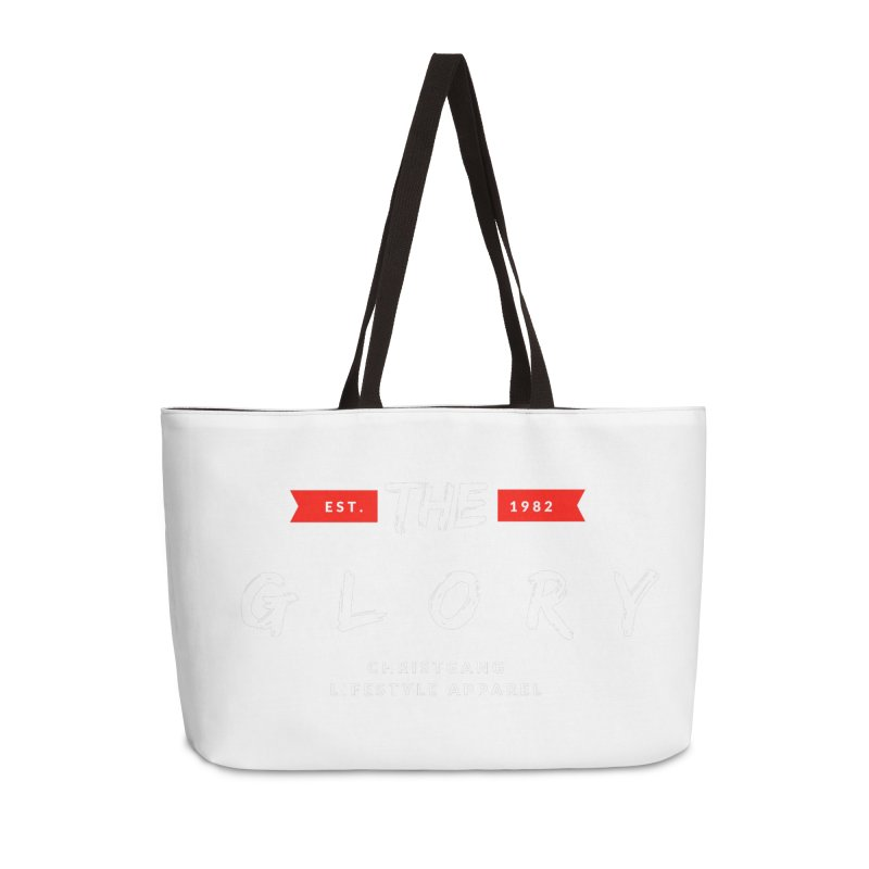 The Glory White Accessories Weekender Bag Bag by ChristGang Apparel