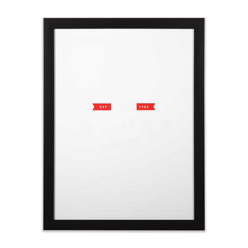 The Glory White Home Framed Fine Art Print by ChristGang Apparel
