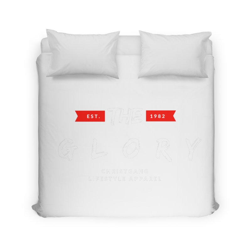 The Glory White Home Duvet by ChristGang Apparel