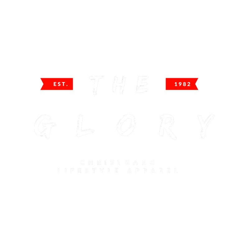 The Glory White Home Stretched Canvas by ChristGang Apparel