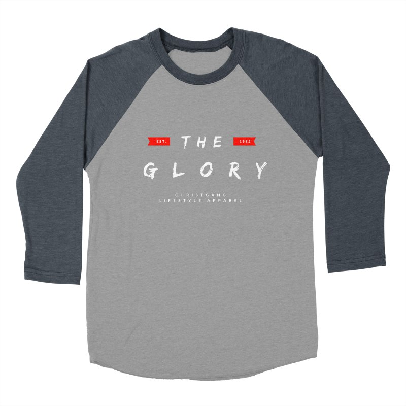 The Glory White Women's Baseball Triblend Longsleeve T-Shirt by ChristGang Apparel
