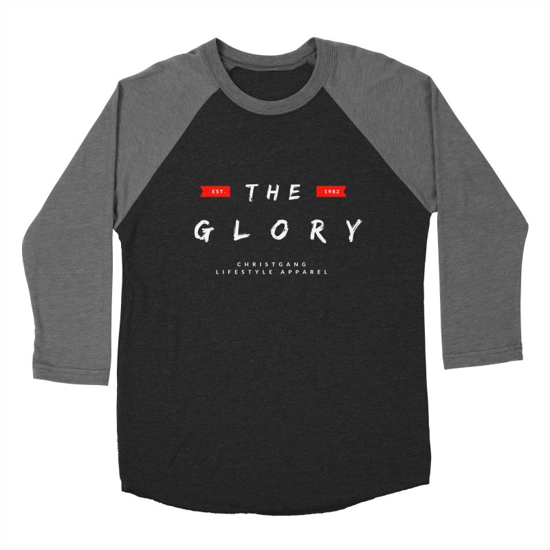 The Glory White Men's Baseball Triblend Longsleeve T-Shirt by ChristGang Apparel