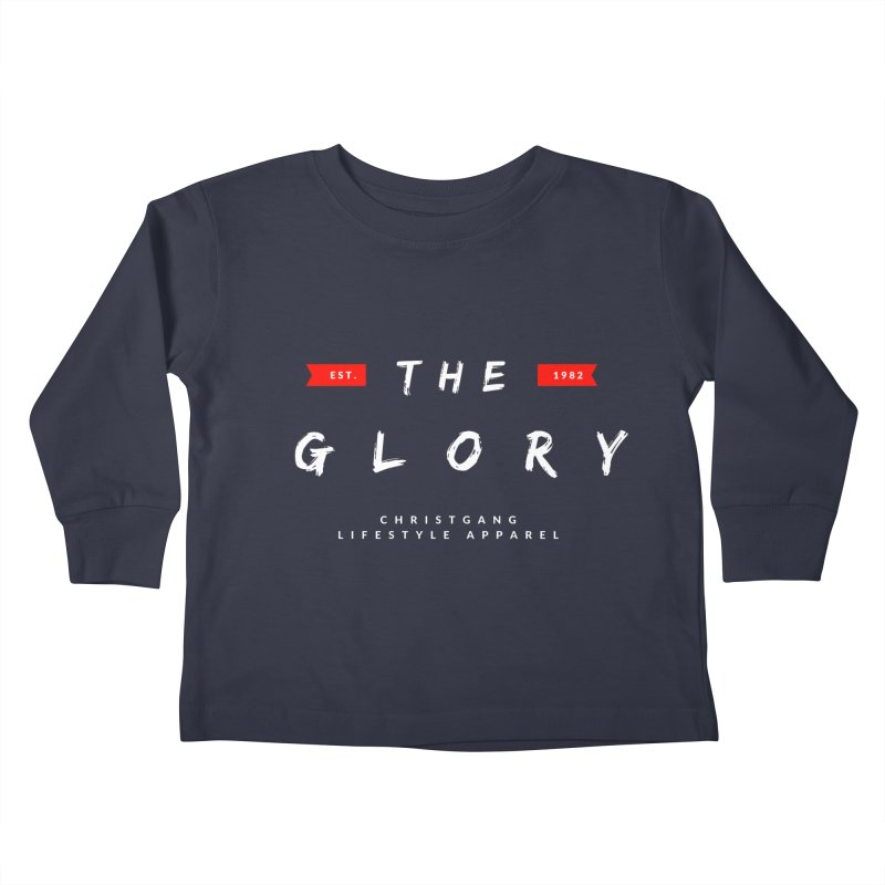 The Glory White Kids Toddler Longsleeve T-Shirt by ChristGang Apparel