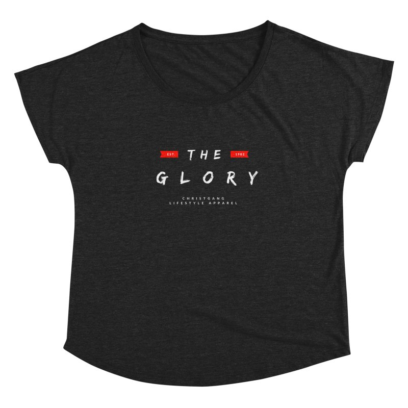 The Glory White Women's Dolman Scoop Neck by ChristGang Apparel