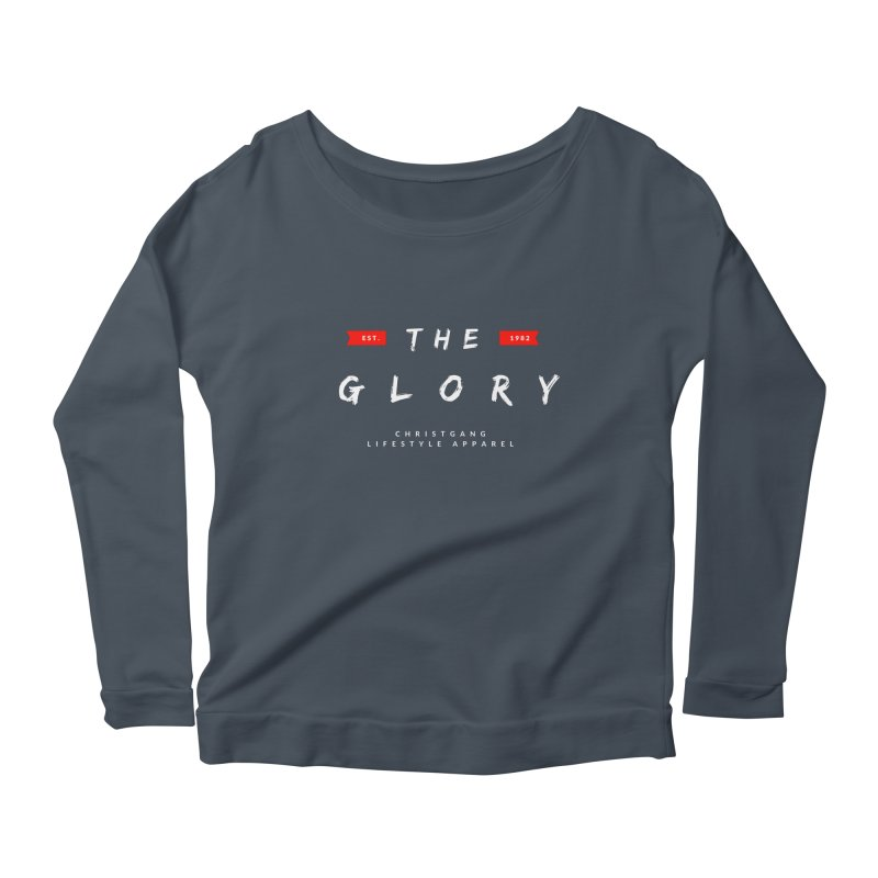 The Glory White Women's Scoop Neck Longsleeve T-Shirt by ChristGang Apparel
