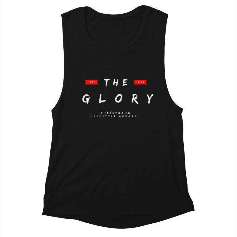 The Glory White Women's Muscle Tank by ChristGang Apparel