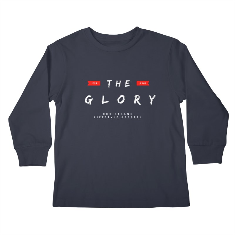 The Glory White Kids Longsleeve T-Shirt by ChristGang Apparel
