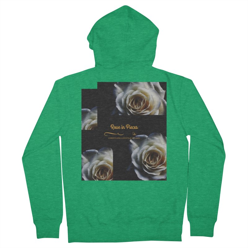 Pieces Of A Rose Women's Zip-Up Hoody by ChristGang Apparel