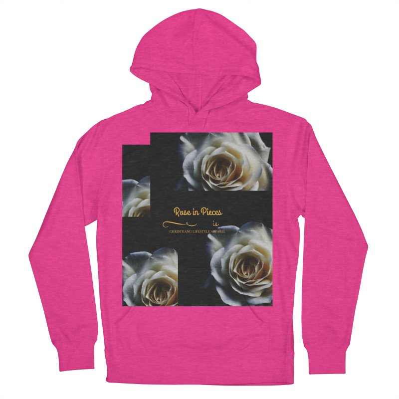 Pieces Of A Rose Men's French Terry Pullover Hoody by ChristGang Apparel