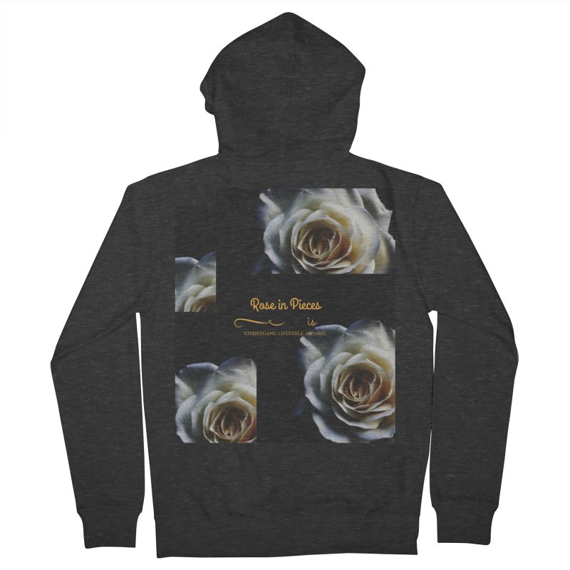 Pieces Of A Rose Women's French Terry Zip-Up Hoody by ChristGang Apparel