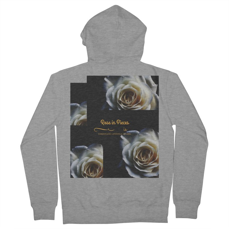 Pieces Of A Rose Men's French Terry Zip-Up Hoody by ChristGang Apparel