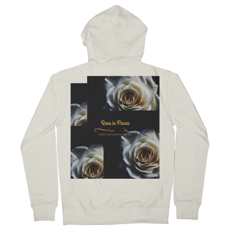 Pieces Of A Rose Men's Zip-Up Hoody by ChristGang Apparel