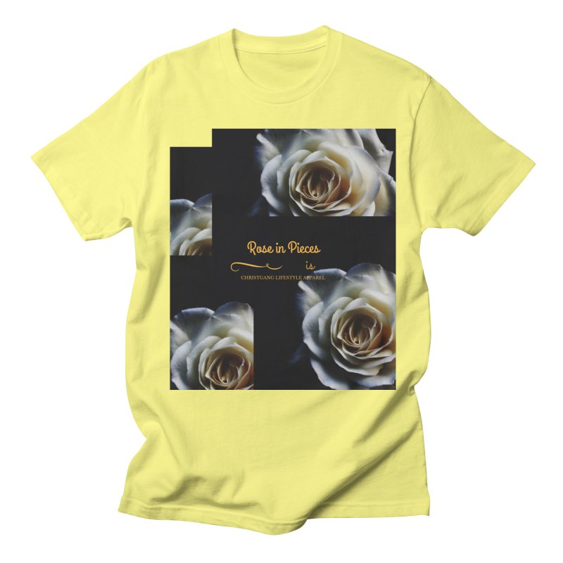 Pieces Of A Rose Men's Regular T-Shirt by ChristGang Apparel