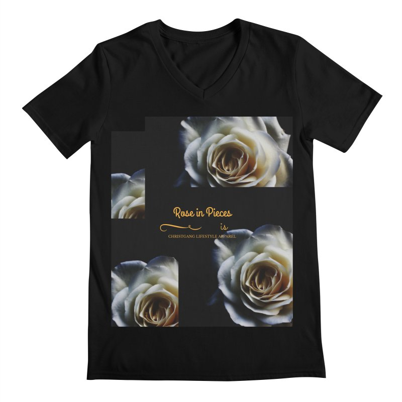 Pieces Of A Rose Men's Regular V-Neck by ChristGang Apparel