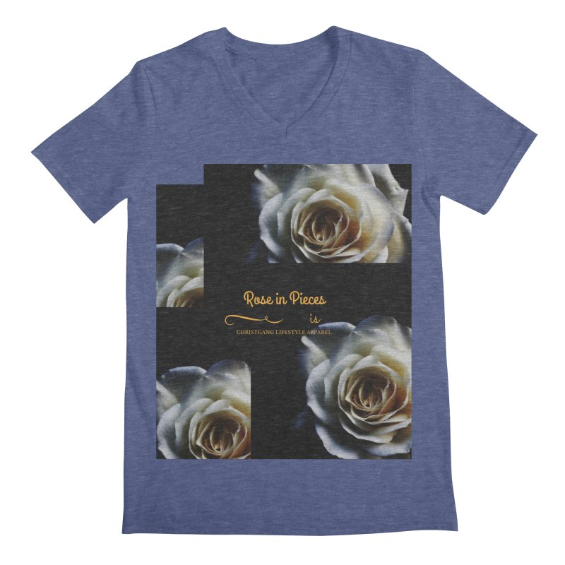 Pieces Of A Rose Men's V-Neck by ChristGang Apparel